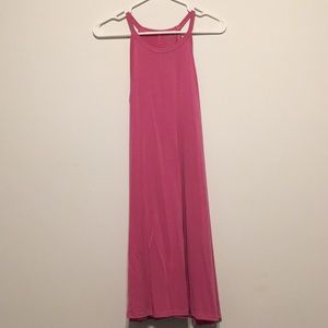 Bubblegum pink shift dress